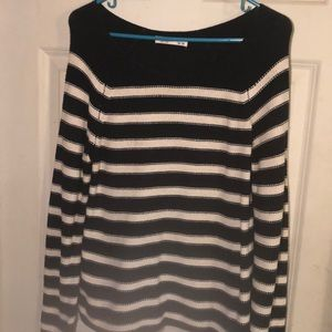 Old Navy size M striped black and white sweater